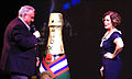 John Heald introduces actress Marcia Gay Harden on Carnival Dream.jpg