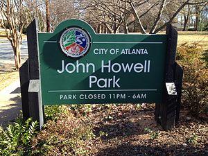 John Howell Memorial Park - Sign