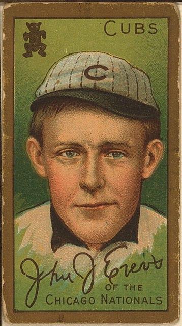 John J. Evers, Chicago Cubs, baseball card portrait LOC 3970980335