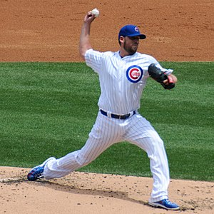 John Lackey - Lackey with the Chicago Cubs in 2016