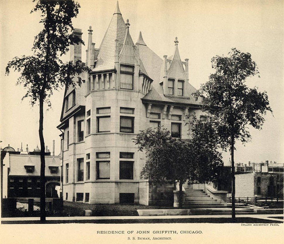 John W. Griffiths house - The Inland Architect and News Record - February 1893