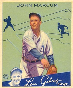 Johnny Marcum - Image: Johnny Marcum Goudeycard