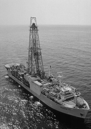 JOIDES Resolution - Drillship JOIDES Resolution in 1988