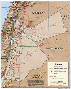 List Of Cities In Jordan Wikipedia - Jordan map download