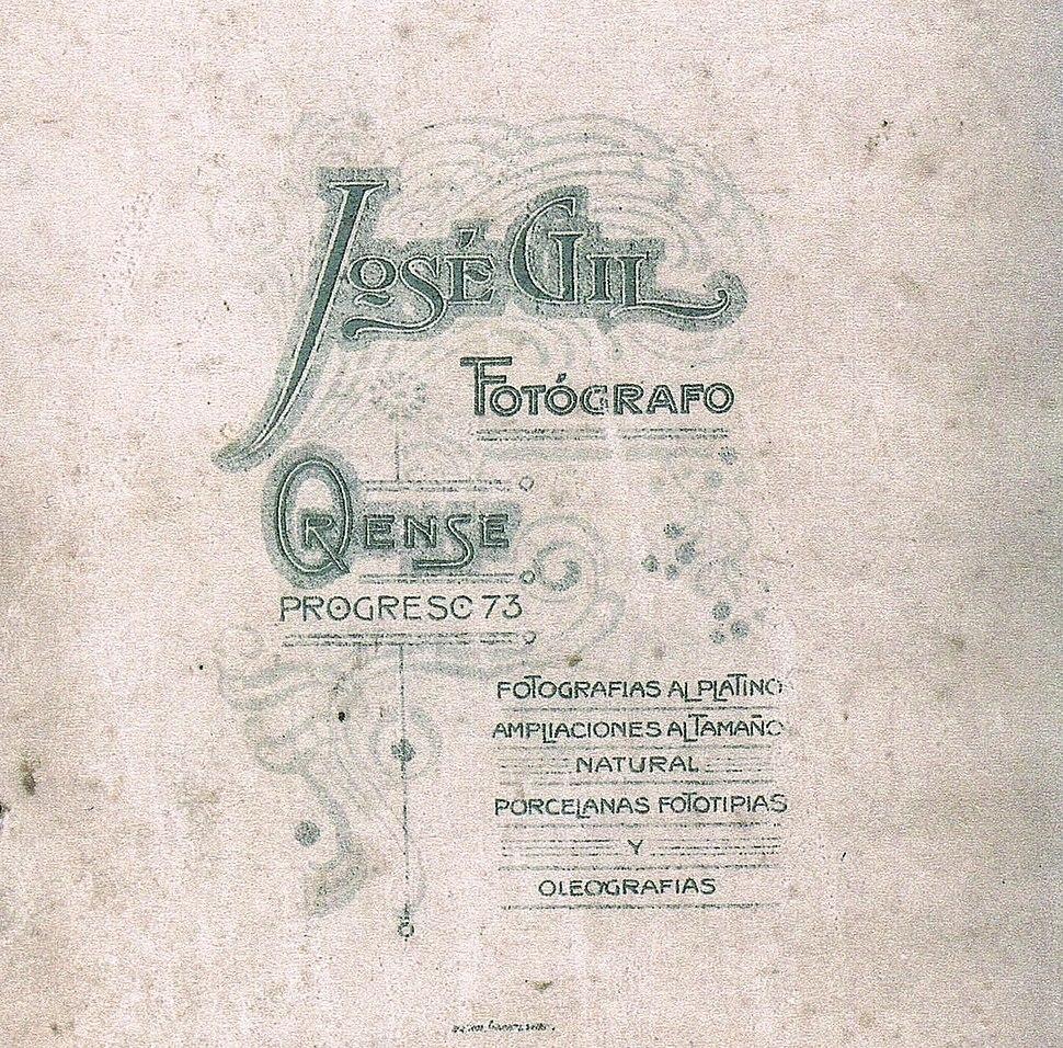 Reverso dun retrato na época ourensá (1899-1905).
