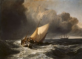 J. M. W. Turner - Image: Joseph Mallord William Turner Dutch Boats in a Gale WGA23163