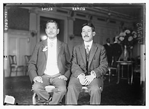 California Alien Land Law of 1913 - Juichi Soyeda and Tadao Kamiya of Japan arrive in 1913 to lobby against the law