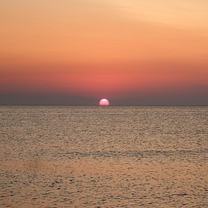 July Morning - The sun rising over the Black Sea on the morning of 1 July