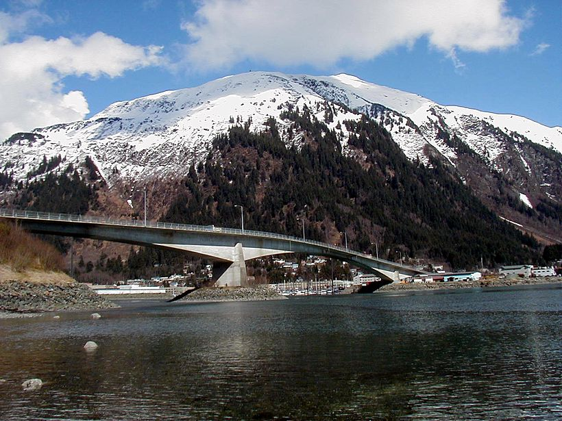 Juneau Douglas Bridge with Mount Juneau
