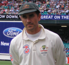 Justin Langer in January 2007