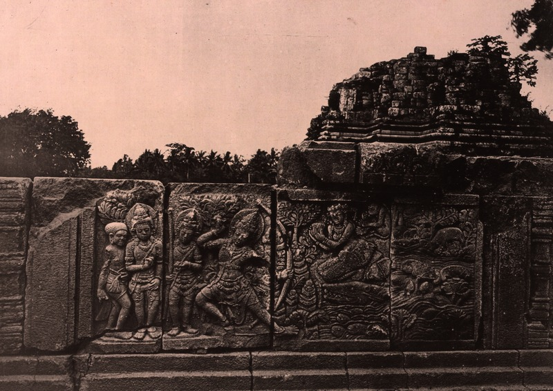 File kitlv 155174 kassian c phas reliefs on the for Terrace yogyakarta