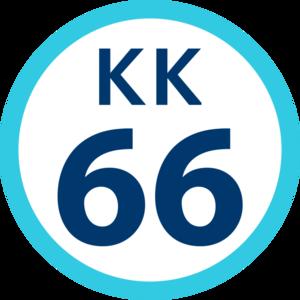 Kitakurihama Station - Image: KK 66 station number