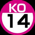 KO-14 station number.png