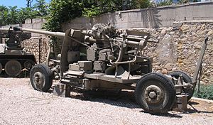 100 mm air defense gun KS-19 - KS-19, Israel Defense Forces History Museum.