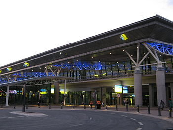 The passenger terminal building at King Shaka ...
