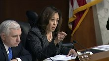 Файл:Kamala Harris questioning Gina Haspel.webm