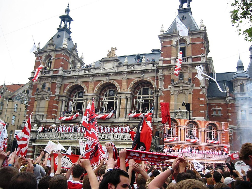 Célébration footbalistique à Leidseplein, Amsterdam - Photo de  Hein56didden