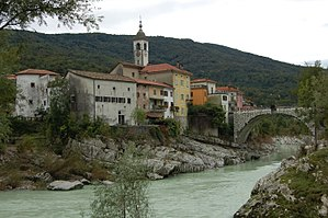 Kanal, Kanal - The oldest part of Kanal lies on the left bank of the Soča.