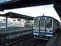 Kanto Railway Kiha5001 at Shimotsuma Station.jpg
