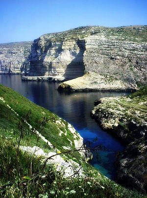 Xlendi - A photo showing the Xlendi 'Kantra', one of the most beautiful places in the village.