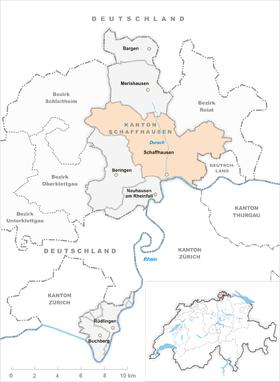 Map of Schaffhausen