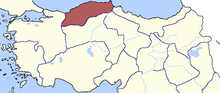 Location of Kastamonu Eyaleti