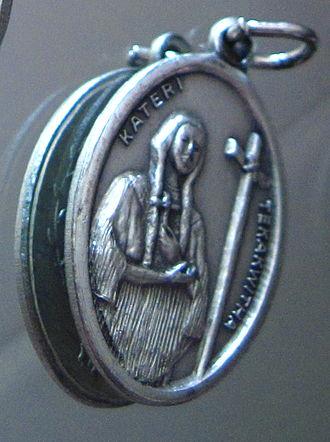 Kateri Tekakwitha - Blessed Kateri devotional medal.