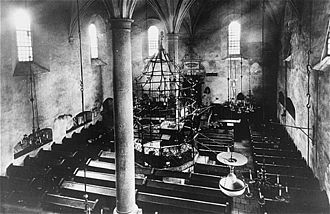 Kazimierz - Interior of the Old Synagogue of Kazimierz before 1939.