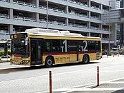 Keihin Kyuko Bus H3472 Haneda Airport Terminal Shuttle (1-2) BRC Hybrid.jpg