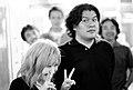 Kenji Eno with a fan.jpg