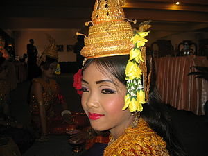 Music of Cambodia - Lady dancer, Siem Reap, September 2005.