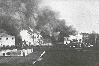 Sydvaranger - The burning of Kirkenes by the Wehrmacht in October 1944