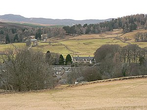 Kirkmichael, Perth and Kinross - Kirkmichael seen from the north-east