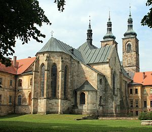 Czech Gothic architecture - Teplá Abbey Church, Bohemia, consecrated in 1232.