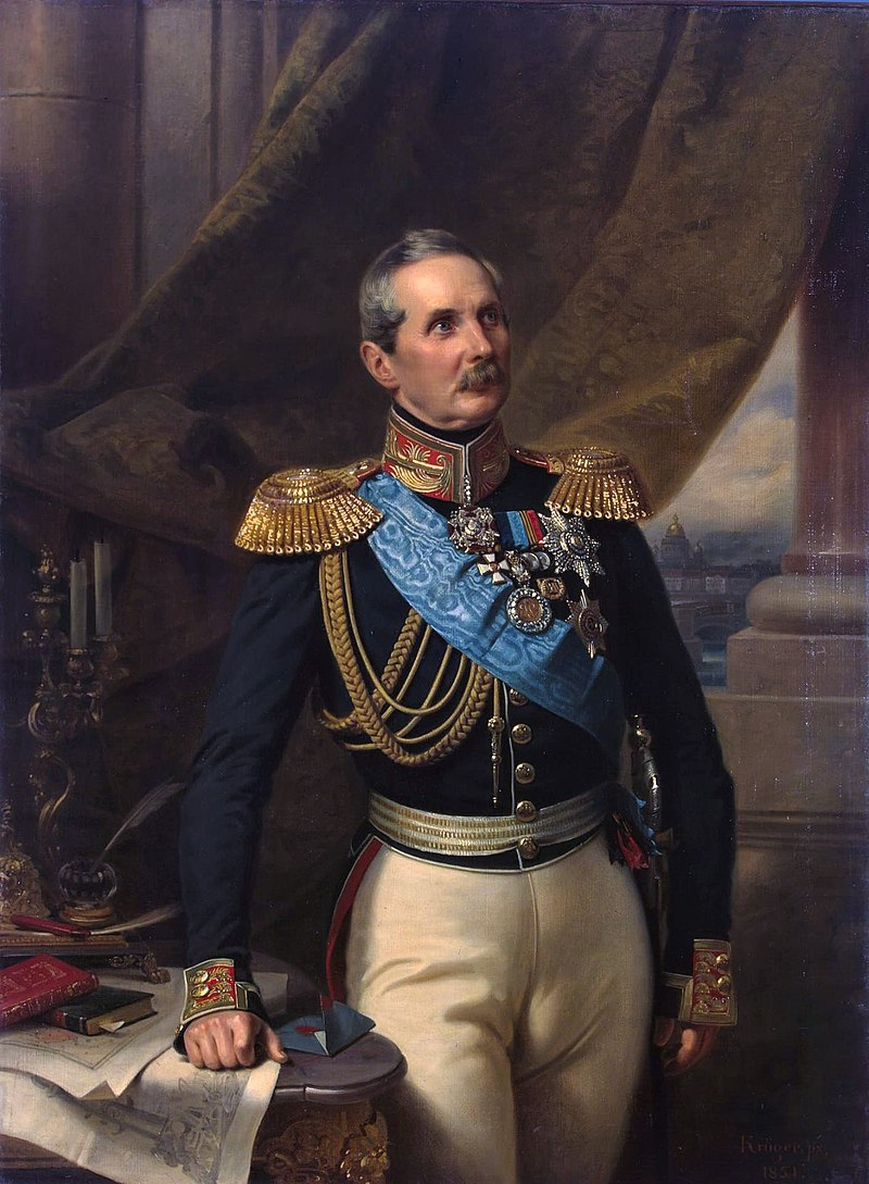 На портрете Ф. Крюгера