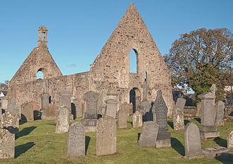 Kincardine O'Neil Hospital, Aberdeenshire - Ruins of St Erchard's Church adjacent to the hospital site in Kincardine O'Neil