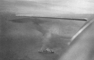Kongō Maru (1935) - Kongō Maru sinking at Lae.