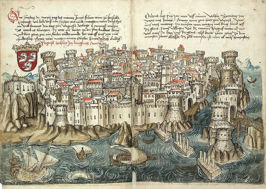 Konrad von Grünenberg - Beschreibung der Reise von Konstanz nach Jerusalem - Blatt 13v-14r