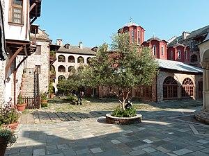Koutloumousiou Monastery - Interior of the monastery.