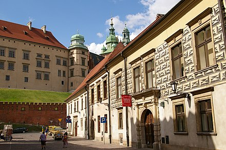 Kanonicza Street, at the foot of the Wawel Castle Krakow Kanonicza 20070804 1000.jpg