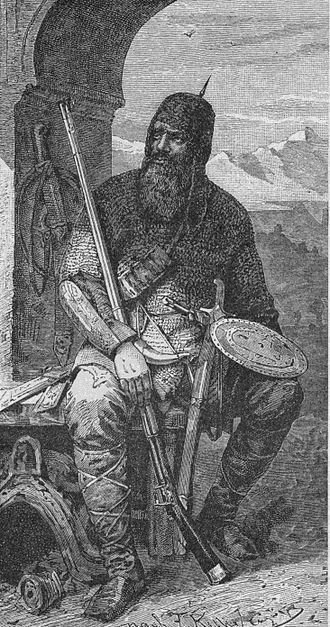 Chechens - Chechen warrior in chain mail