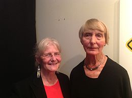 Kris Holmes (l) and Inge Druckrey ( R) in 2012.JPG