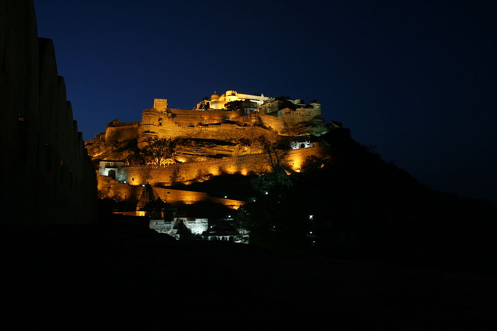 Kumbhalgarh fort at night