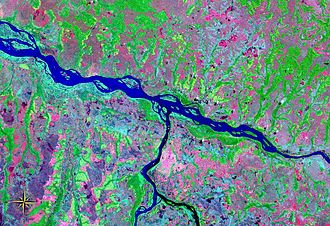Kwango River - Image: Kwango River entering Kasai River NASA