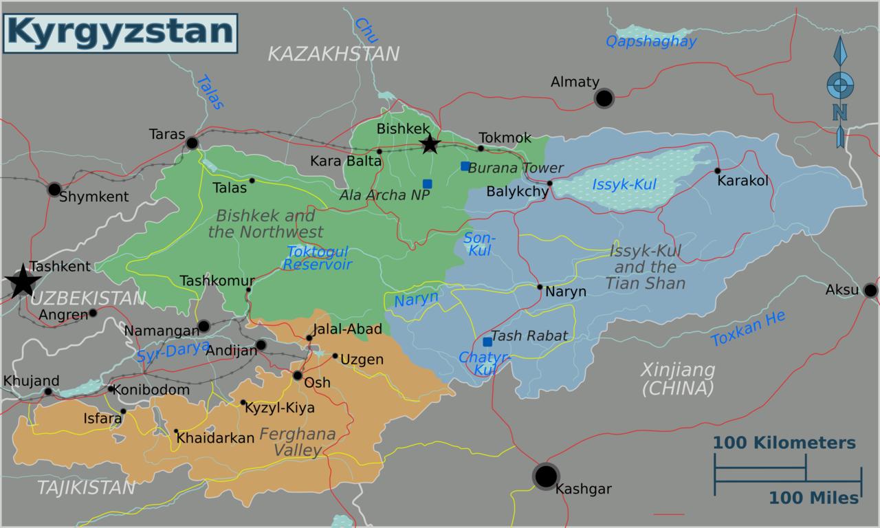 FileKyrgyzstan regions mappng FileKyrgyzstan regions mappng
