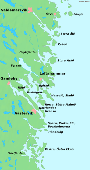 Tjust - Tjust has an extensive coastal archipelago on the Baltic Sea.