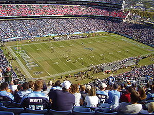 Nissan Stadium - Nissan Stadium as seen from Section 341, immediately prior to kickoff of Titans vs Texans, October 29, 2006