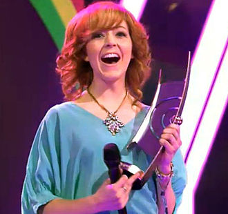 Lindsey Stirling - Stirling with her Echo award for Crossover National/International, March 2014