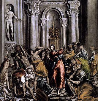 Christ Driving the Money Changers from the Temple (El Greco, Madrid) - Image: La Purificacion del templo version 6 El Greco