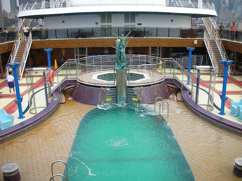 Pool, Carnival Miracle. Cruising travel hacks